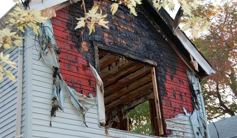 Вініловий сайдинг після пожежі