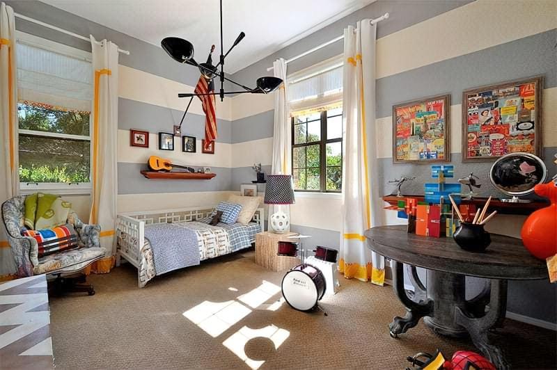 Інтер'єр дитячої кімнати для хлопчика - барвисті і яскраві ідеї 10