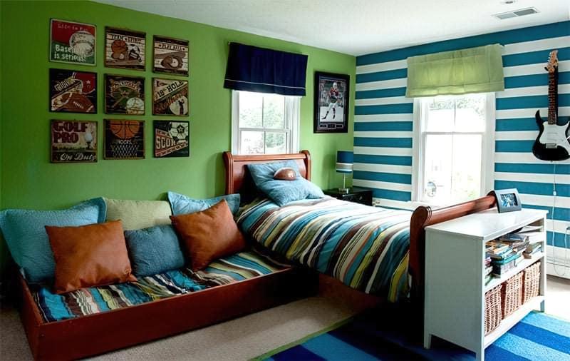 Інтер'єр дитячої кімнати для хлопчика - барвисті і яскраві ідеї 16