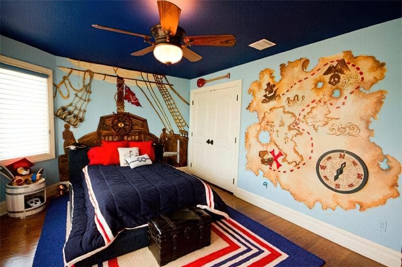 Інтер'єр дитячої кімнати для хлопчика - барвисті і яскраві ідеї 22