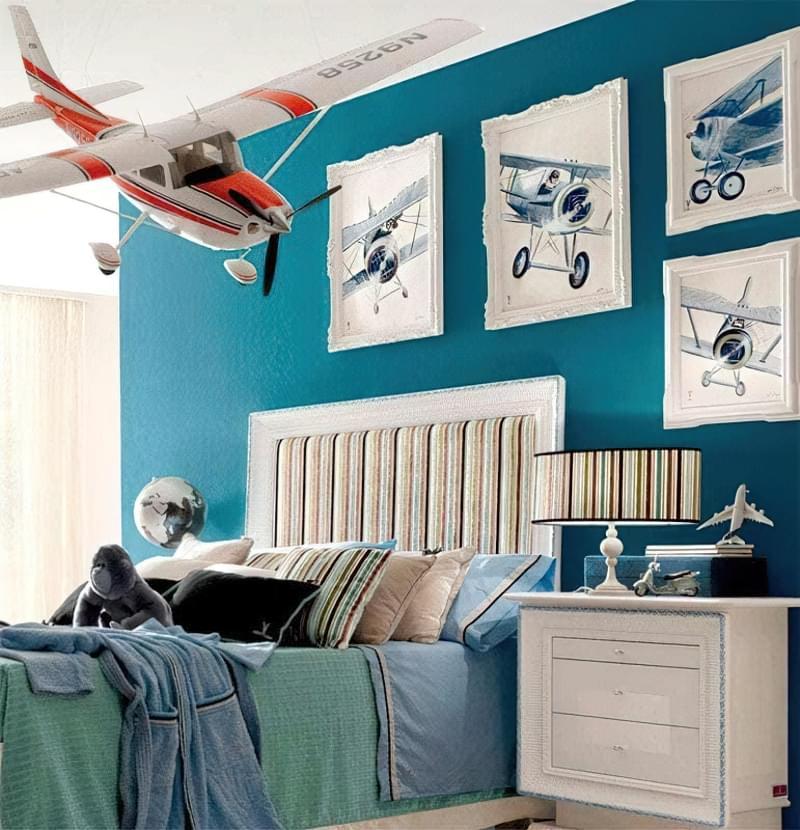 Інтер'єр дитячої кімнати для хлопчика - барвисті і яскраві ідеї 23