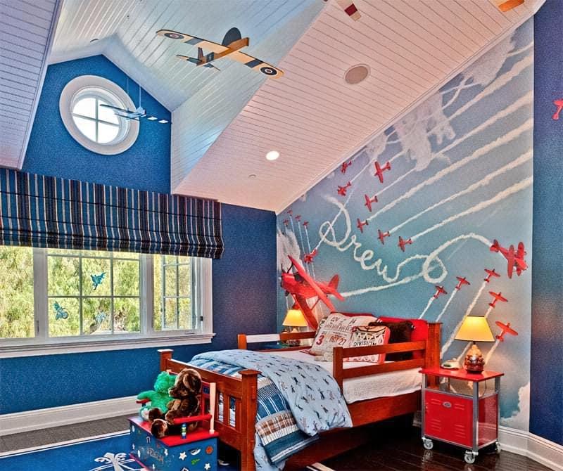 Інтер'єр дитячої кімнати для хлопчика - барвисті і яскраві ідеї 28