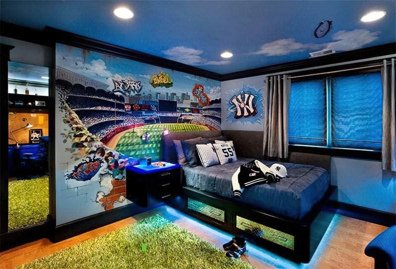 Інтер'єр дитячої кімнати для хлопчика - барвисті і яскраві ідеї 29