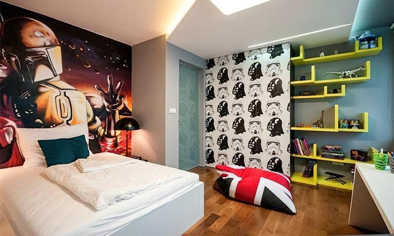 Інтер'єр дитячої кімнати для хлопчика - барвисті і яскраві ідеї 115
