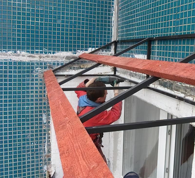 Шумоізоляція даху балкона від дощу 2