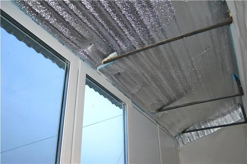 Шумоізоляція даху балкона від дощу 12