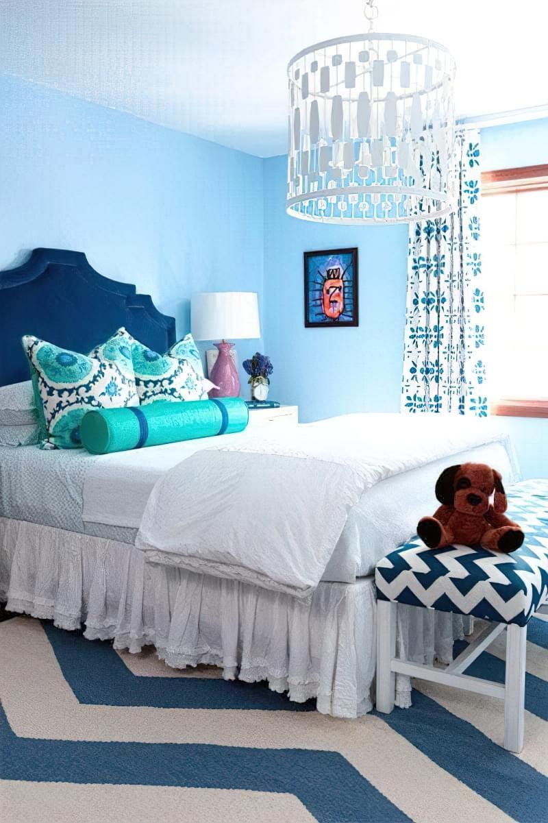 Синій колір в інтер'єрі спальні - відтінки захоплюючі дух 2
