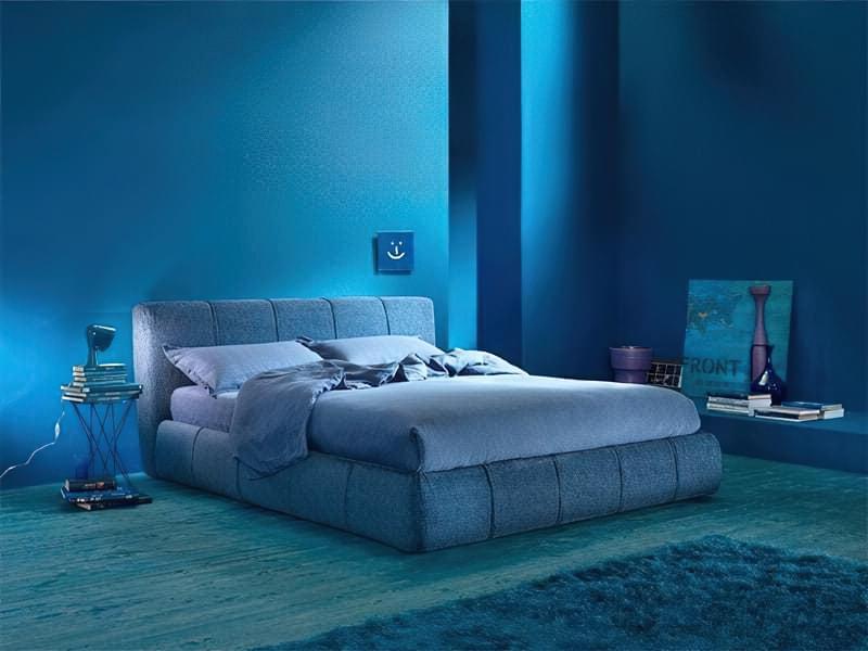 Синій колір в інтер'єрі спальні - відтінки захоплюючі дух 13