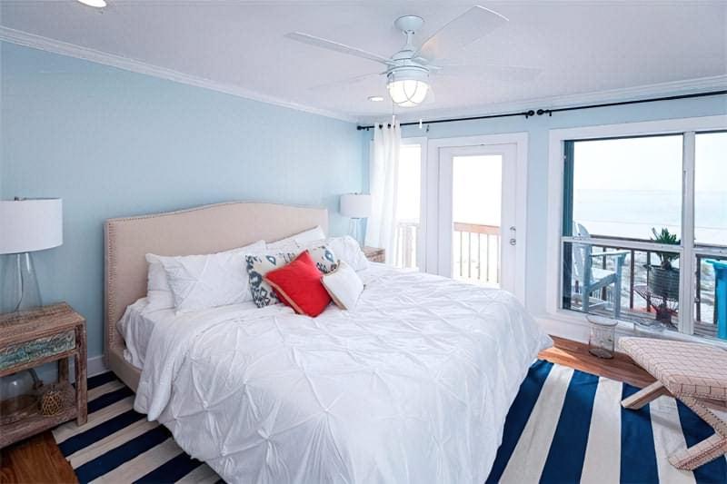 Синій колір в інтер'єрі спальні - відтінки захоплюючі дух 3