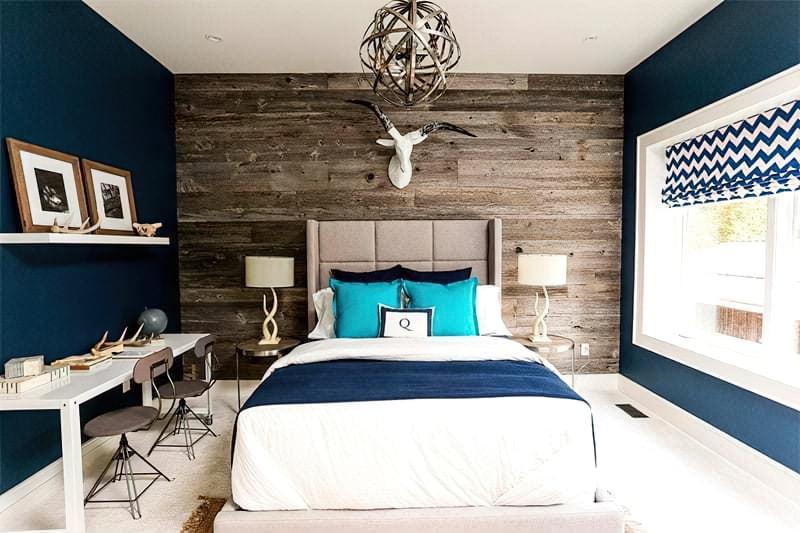 Синій колір в інтер'єрі спальні - відтінки захоплюючі дух 25