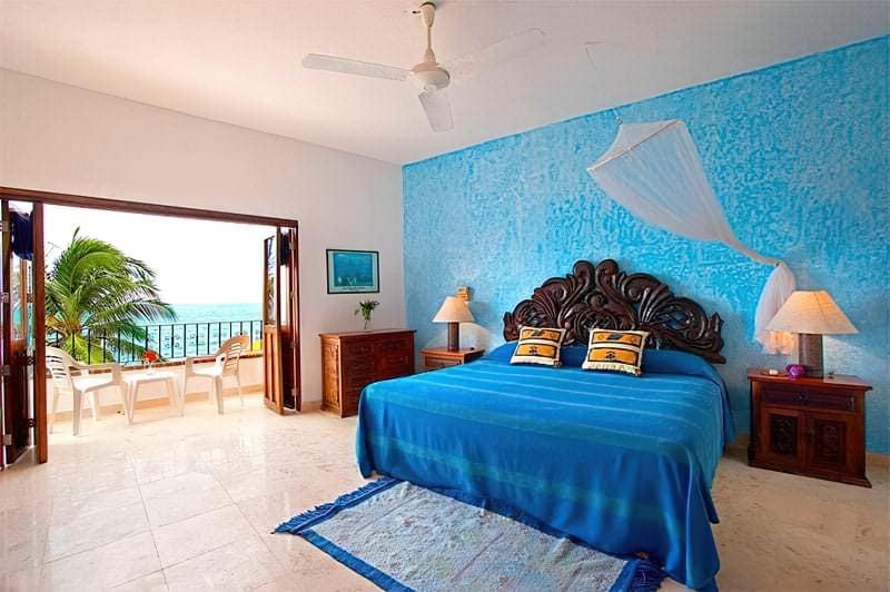Синій колір в інтер'єрі спальні - відтінки захоплюючі дух 8