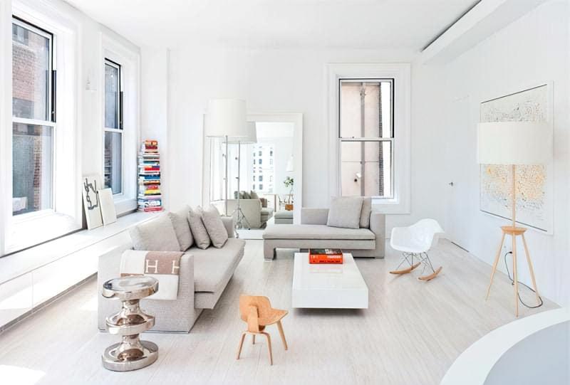 Вітальня в стилі мінімалізм – правила оформлення та ідеї для приголомшливого зовнішнього вигляду 11