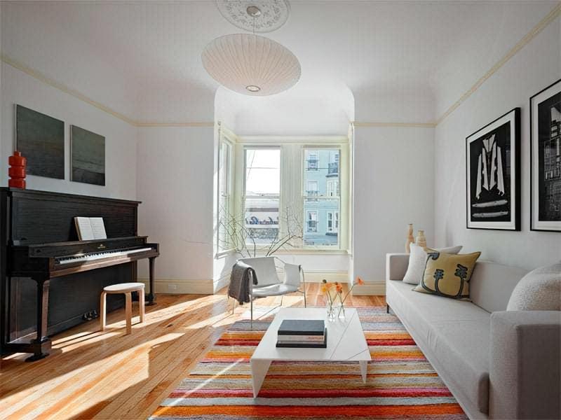 Вітальня в стилі мінімалізм – правила оформлення та ідеї для приголомшливого зовнішнього вигляду 15