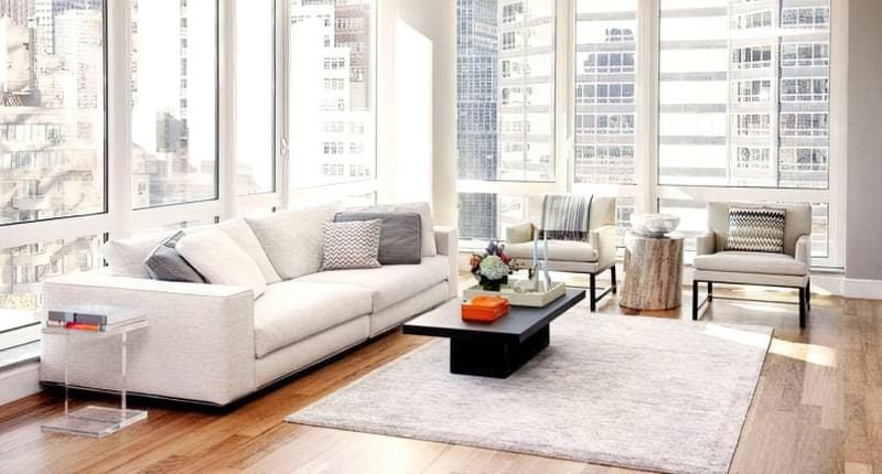 Вітальня в стилі мінімалізм – правила оформлення та ідеї для приголомшливого зовнішнього вигляду 3