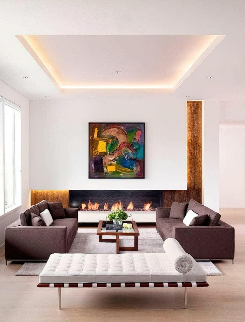 Вітальня в стилі мінімалізм – правила оформлення та ідеї для приголомшливого зовнішнього вигляду 23