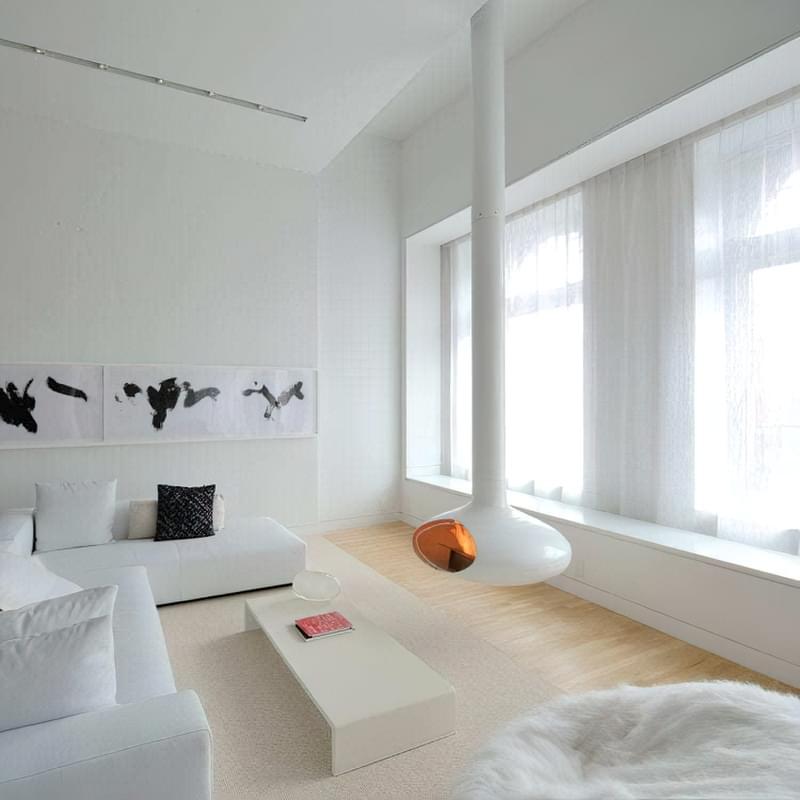 Вітальня в стилі мінімалізм – правила оформлення та ідеї для приголомшливого зовнішнього вигляду 32
