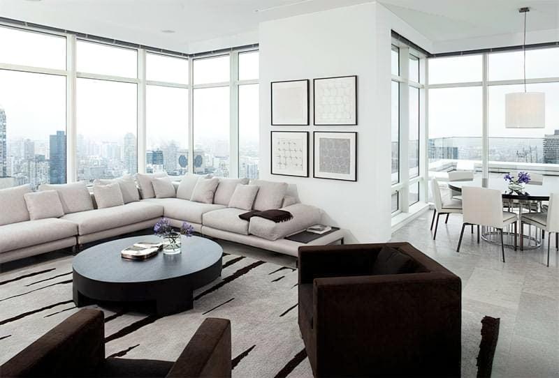 Вітальня в стилі мінімалізм – правила оформлення та ідеї для приголомшливого зовнішнього вигляду 38