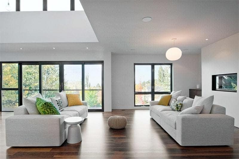 Вітальня в стилі мінімалізм – правила оформлення та ідеї для приголомшливого зовнішнього вигляду 44