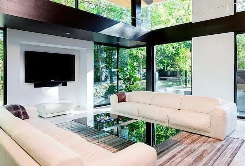 Вітальня в стилі мінімалізм – правила оформлення та ідеї для приголомшливого зовнішнього вигляду 45