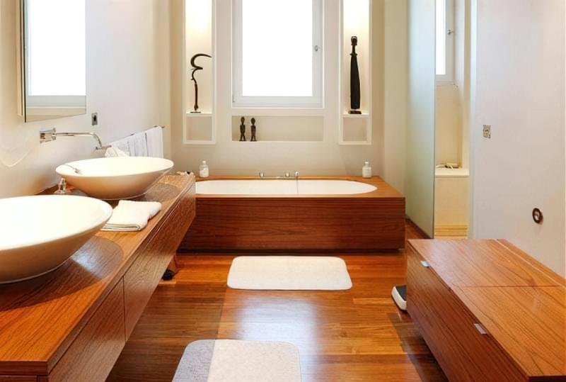 Як зробити підлогу під ванною своїми руками 2