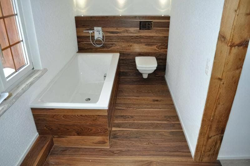 Як зробити підлогу під ванною своїми руками 4