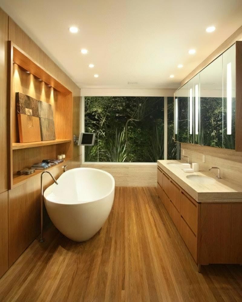 Як зробити підлогу під ванною своїми руками 6