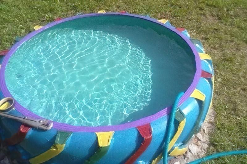 Зробити басейн на дачі — просто! Ідеї простих басейнів 14