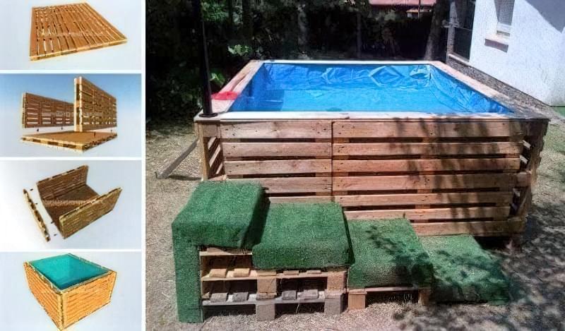 Зробити басейн на дачі — просто! Ідеї простих басейнів 7