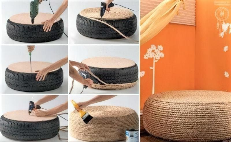 Робимо садові меблі із шин своїми руками: класні ідеї та детальні приклади 2