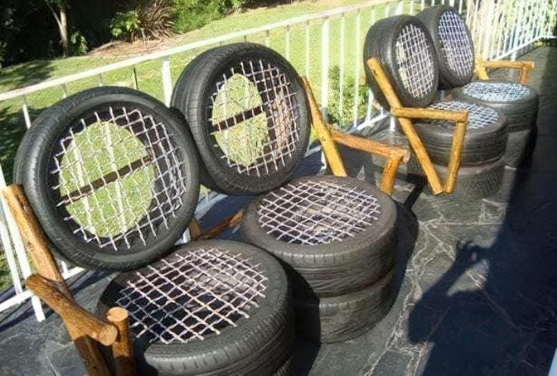 Робимо садові меблі із шин своїми руками: класні ідеї та детальні приклади 11