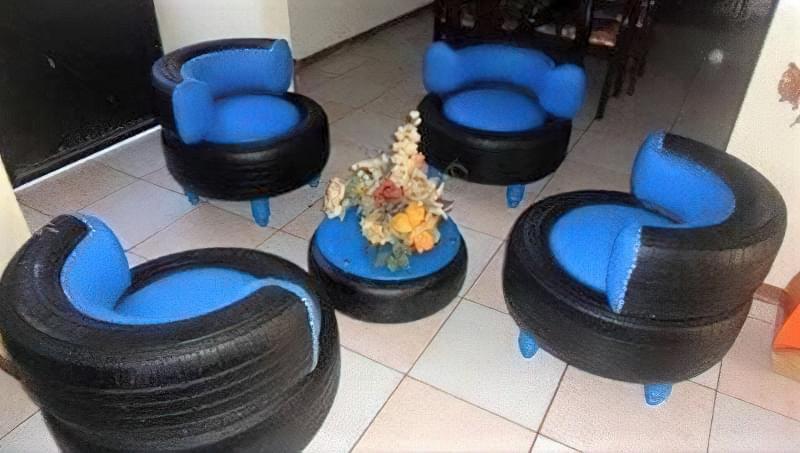 Робимо садові меблі із шин своїми руками: класні ідеї та детальні приклади 14