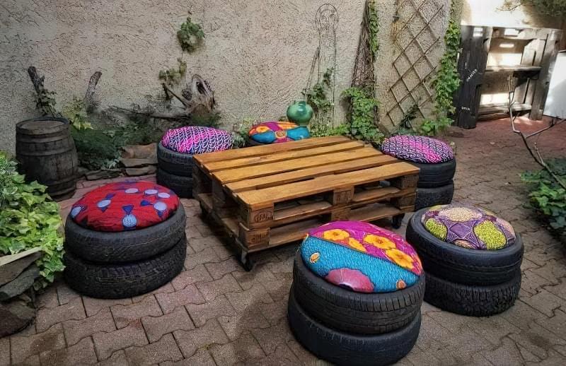 Робимо садові меблі із шин своїми руками: класні ідеї та детальні приклади 6