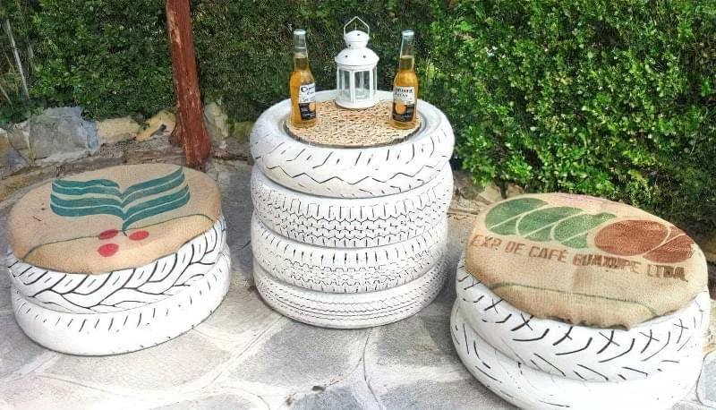 Робимо садові меблі із шин своїми руками: класні ідеї та детальні приклади 7