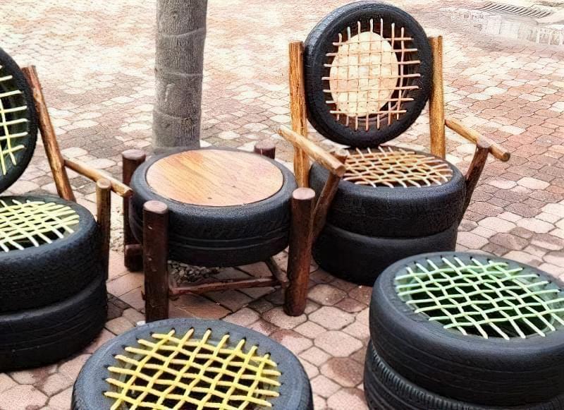 Робимо садові меблі із шин своїми руками: класні ідеї та детальні приклади 9