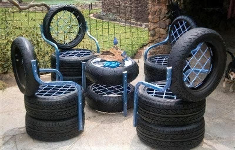 Робимо садові меблі із шин своїми руками: класні ідеї та детальні приклади 10