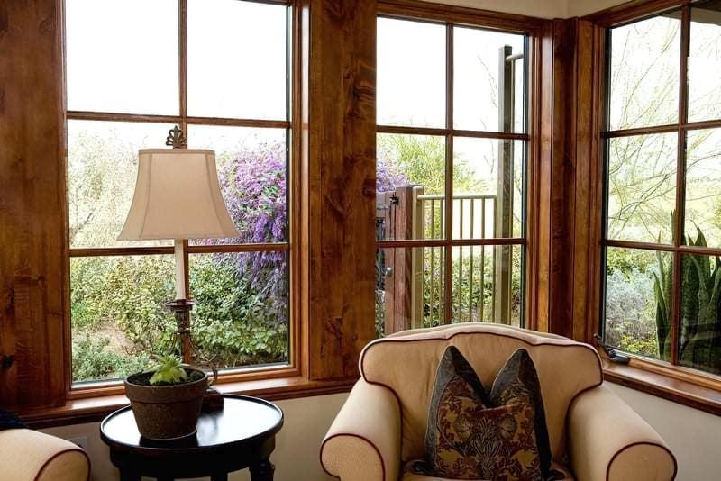 Дерев'яні вікна з шпросами фото