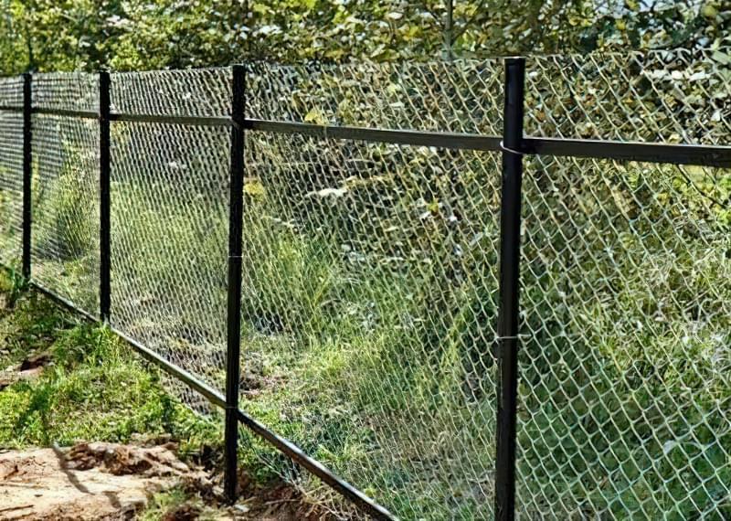 Як зробити паркан із сітки рабиці на дачі? 2