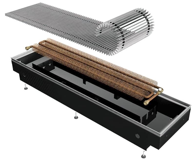 Водяний конвектор з теплообмінником з дроту