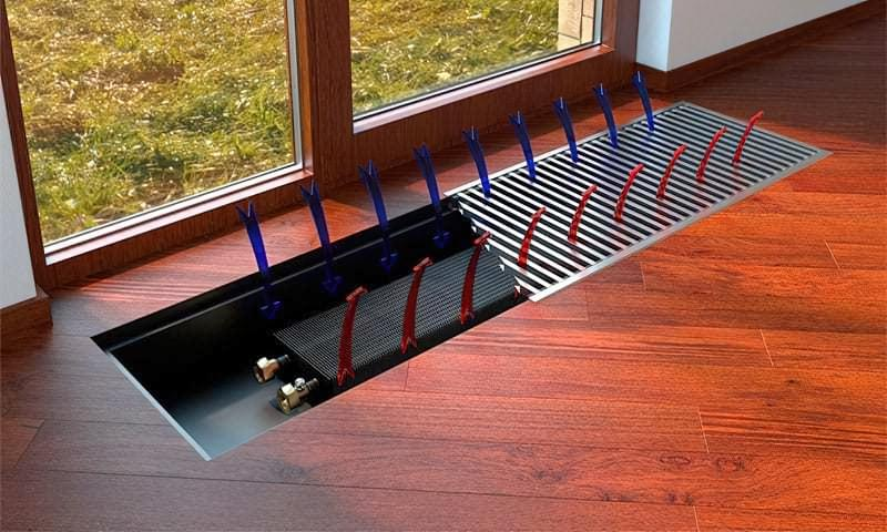 Водяні конвектори опалення: пристрій, принцип роботи, різновиди 1