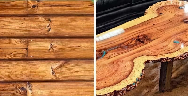 Обробка деревини відкритим полум'ям 1