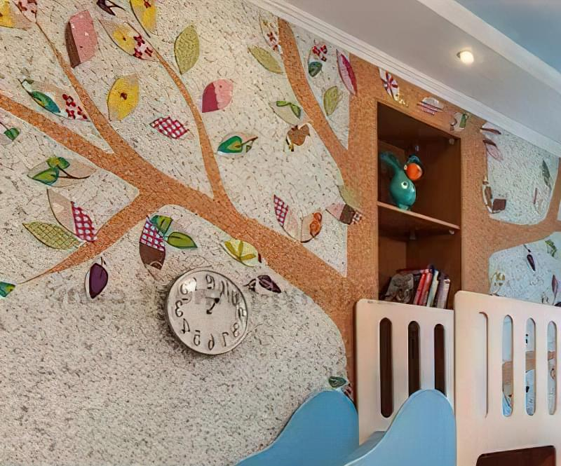 Оздоблення стін і стелі рідкими шпалерами 1