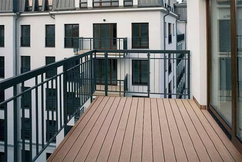 Настил терасної дошки на балконах
