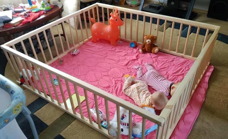 Виготовлення дитячого манежу своїми силами 1