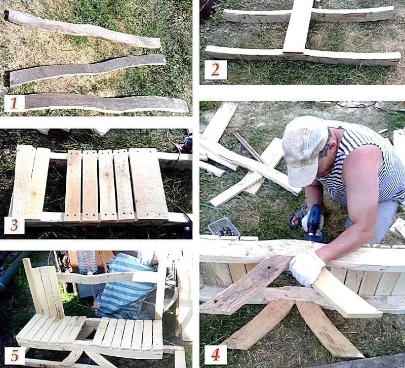 Виготовлення садової лавки з дерева