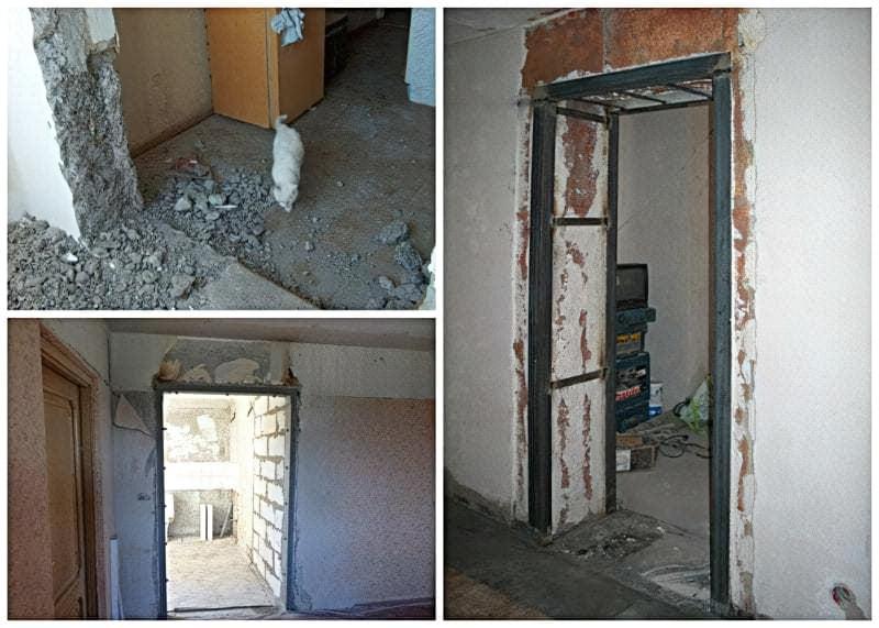 Як проводиться розширення дверного отвору в несучій стіні 2