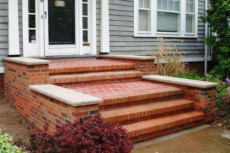 Варіант сходів з цегли