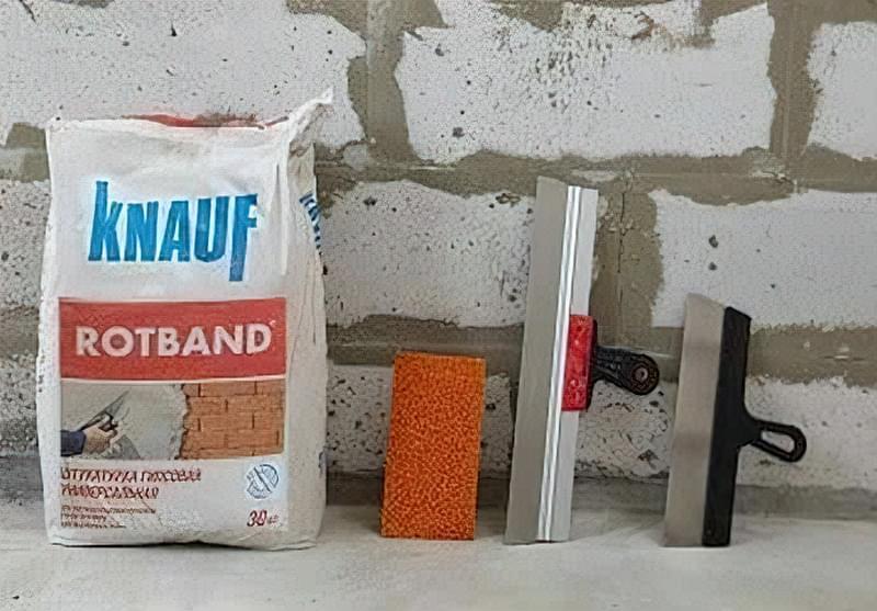 Застосування гіпсових штукатурок Ротбанд Knauf 1