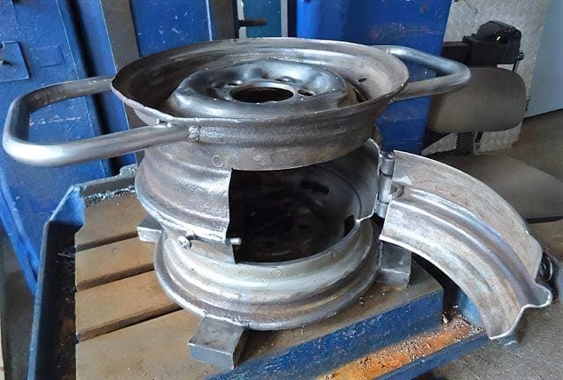 Печі і мангали з колісних дисків: класні ідеї для виготовлення своїми руками 5