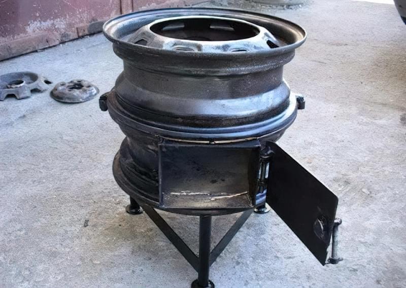 Печі і мангали з колісних дисків: класні ідеї для виготовлення своїми руками 6