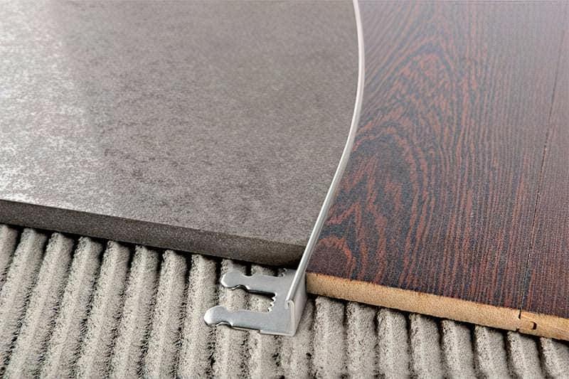 Стик плитки і ламінату - варіанти і способи оформлення 8